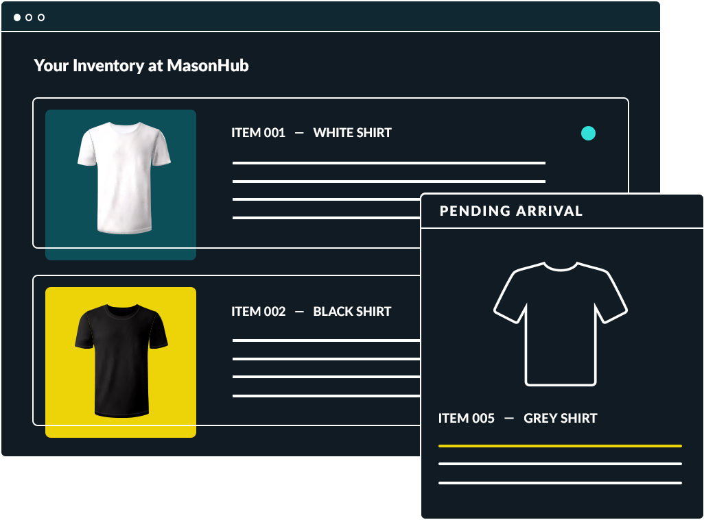 Website inventory page.