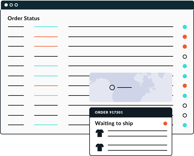 An image of an order status webpage.