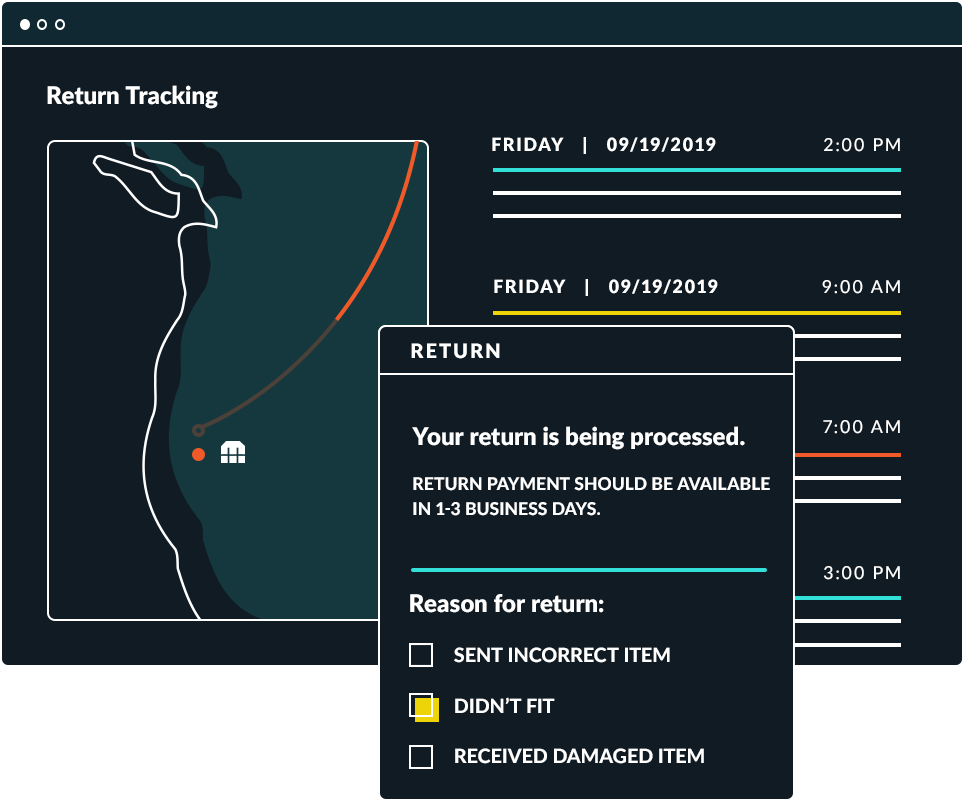 A website package tracking page.